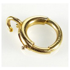 Antique Victorian 14K Gold Bolt Clasp 0161