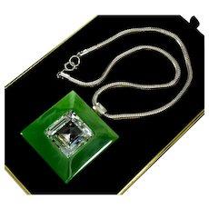 Haute Couture Lanvin Paris Swarovski Crystal Pendant Necklace