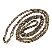 Antique Georgian Brass Guard Chain Necklace C.1800