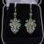 Antique Victorian 14K Gold Sterling Earrings Turquoise Fleur-De-Lis C.1890