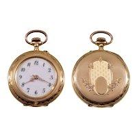 Antique Victorian 14K Gold Swiss Ladies Watch C.1890 Working