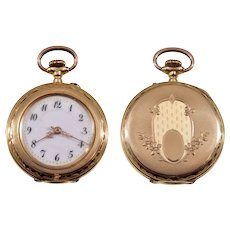Antique Victorian 14K Gold Swiss Ladies Watch C.1890 Working