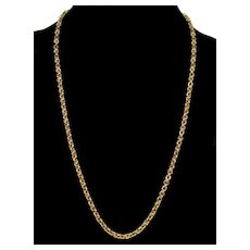 Victorian 10K Gold Hand Made Fancy Link Chain Necklace C.1860