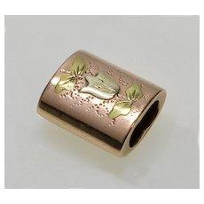 Antique Victorian 14K Gold Slide Charm For Bracelet 002756