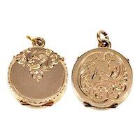 Antique Victorian 14K Gold Locket Pendant C.1890