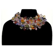 """Valentino """"V Night"""" Collection Lucite Hearts Collar Necklace Choker"""