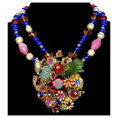Designer Anka Venetian Glass Poured Glass Necklace