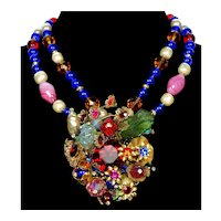 Designer Anka Venetian Glass Poured Glass Necklace