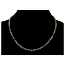 Antique Victorian 14K Gold Fancy Chain Necklace C.1890