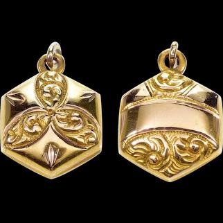 Antique Victorian 9K Gold Fob Pendant C.1890