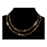 Italian Roma Link Shiny Gold Vermeil Sterling Chain