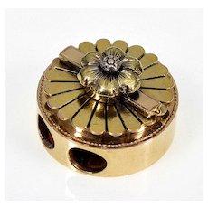 Antique Victorian 10K Gold Large Slide For Necklace 003994