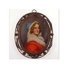 Antique Georgian Portrait Miniature Hand Painted C.1820