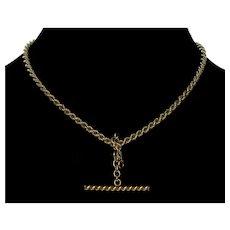 Antique Victorian GF Double Albert Watch Chain Necklace C.1890