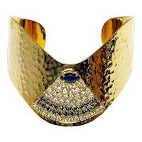 "Vintage Hattie Carnegie ""Eye Of Providence"" Bangle Bracelet"