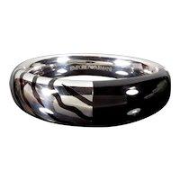 Emporio Armani Zebra Enamel Sterling Bangle Bracelet New With Tag