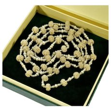 """Antique Georgian Natural Seed Pearl Necklace 29"""""""