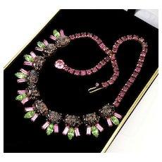 Vintage 40's Elsa Schiaparelli Murano Venetian Aventurine Glass Necklace