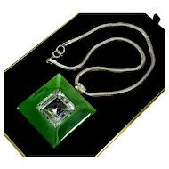 Haute Couture Lanvin Paris Swarovski Crystal Pendant Necklace