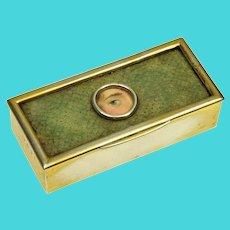 Antique Victorain Lover's Eye Shagrene Sterling English Tooth Pick Box C.1887