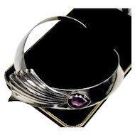 Carol Felley Sunrise Amethyst Sterling Collar Comet Necklace