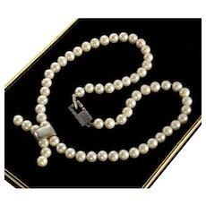Lisa Jenks Cultured Pearls Sterling Necklace