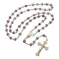 Art Deco Italian Venetian Rainbow Iris Glass Rosary