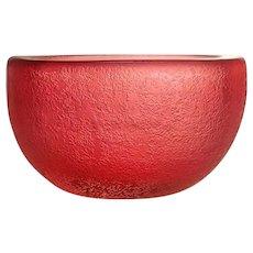 Venini Corroso Glass Bowl. Stunning colour and good size. Carlo Scarpa 1936