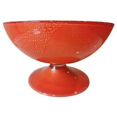Tomaso Buzzi for Venini Laguna Pedestal Bowl, Murano
