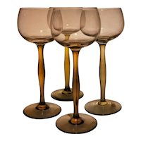Peter Behrens Rare and Important Wine Glasses, 1898