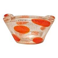Alfredo Barbini Spotted Bowl/Large Ashtray, 1950's Murano