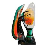 "Mario Badioli Large Sculpture ""Picasso Head"", Murano 1992"