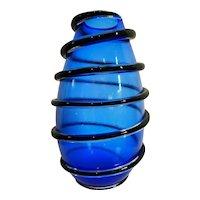 Large Blue Murano Vase