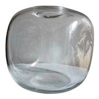 "Alfredo Barbini Large and Cool Vase, ""Vasi Cubici"" 1972 Murano"