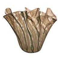 Fratelli Toso Zanfirico Handkerchief Vase, 1950s Murano