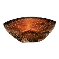 Flavio Poli for Seguso Vetri d'Arte Early Bollicine Bowl, Murano