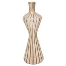 Fratelli Toso Filigrana Vase, Mid Century Murano