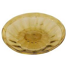 Amber Soffiati Glass Bowl, Murano circa 1920s