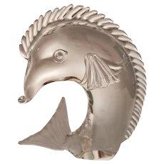 Licio Zanetti Crystal Fish Sculpture, Murano, Signed