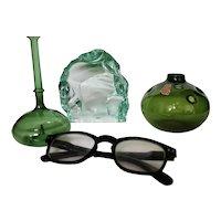 Three Pieces of Scandinavian Glass, Vicke Lindstrand, Michael Bang