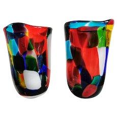 Pair of Pezzato Vases