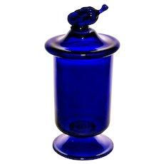 "Vittorio Zecchin for Cappellin Venini ""Fruit Jar"" in Cobalti Glass c. 1925"