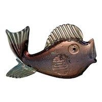 "Murano ""a Bolle"" Large Fish, Rare"