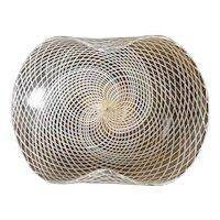 Opulent Ercole Barovier Reticello Pedestal Bowl