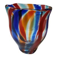 """Colourful Cenedese """"a canne"""" Vase"""