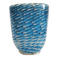 "Ercole Barovier Large ""Neolitici"" Vase in Rare Blue, 1954"