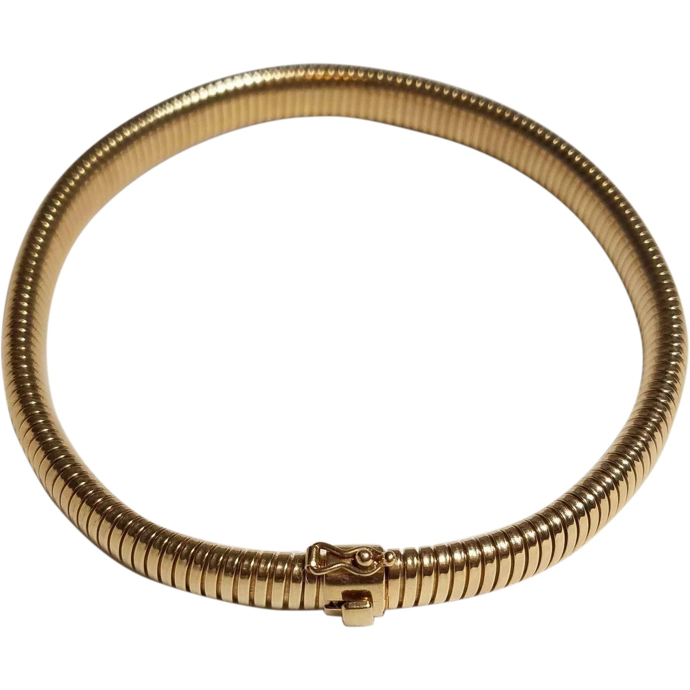 14k gold choker necklace tubogas collier de chien or dog for Best place to sell gold jewelry in chicago
