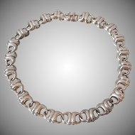 Early Charles Krypell Cast Sterling Silver Necklace