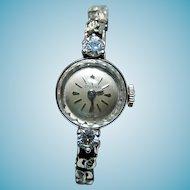 14k Watch Eterna Swiss Watch Ladies Watch Large Diamonds