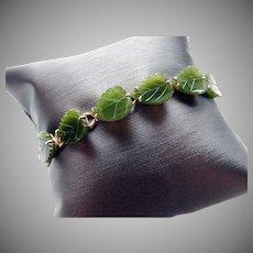 14k Jade Bracelet Chinese Export